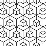 Vector modern seamless geometry pattern illusion, ...
