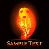 Soccer cup championship banner - illustration