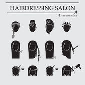 Hairdressing salon Icons Set EPS 10 isolated objects