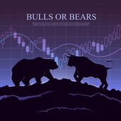Trading illustration The bulls and bears