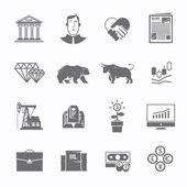 Stock exchange trading set of icons