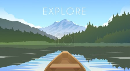 Sailing boat First person. Wild nature. Mountain l...