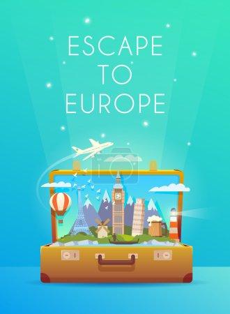 Travel to Europe. Road trip.