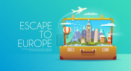 Trip to Europe. Travel to Europe. Vacation to Euro...