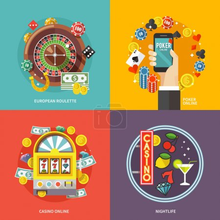 Colorful flat vector concept composition.
