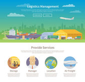 One page web design template. Logistics.