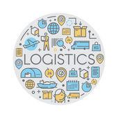 Line vector logistics icons