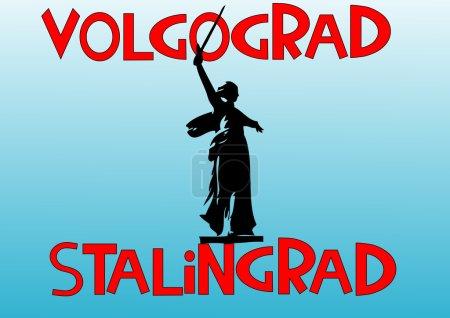 the city of Volgograd .Sculpture Motherland