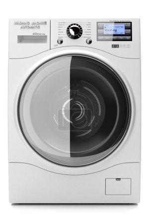 Washing machine isolated on white background 3d