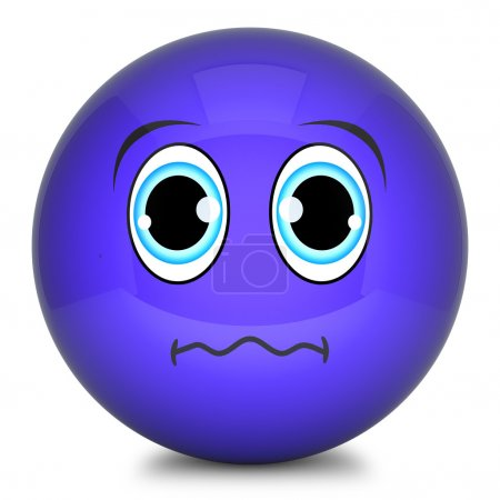 blauen smiley 3d