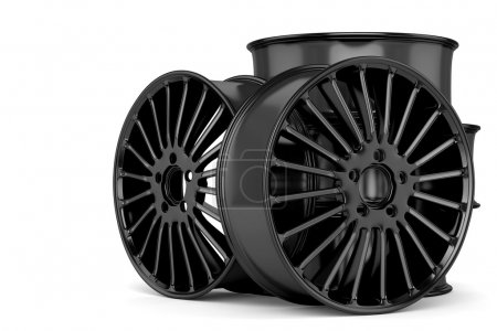 Auto wheels in black
