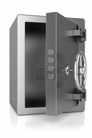 Metal safe open