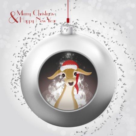 Christmas Ball with baby deer and magic glow inside