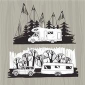 motor homes vans caravans mobile homes trailer with forest a