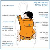 poster mother with children in the ergo baby carrier on  white b