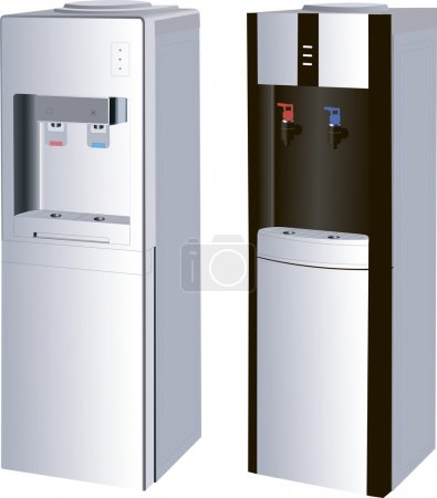 Two models of water dispensers in the vector