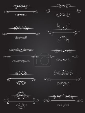 Vector set of dividers page of text.