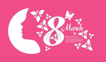 Illustration pour 8 mars Journée internationale de la femme. Illustration vectorielle - image libre de droit