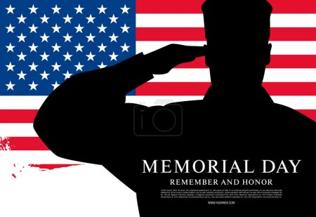 Memorial day. Remember and honor