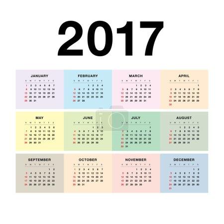 wall calendar 2017 design
