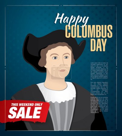 Happy Columbus Day. Sale