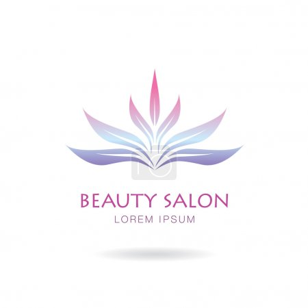 Illustration for Vector logo design of a spa salon and natural cosmeti - Royalty Free Image