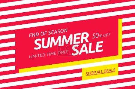 summer sale banner template design