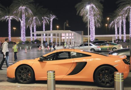 McLaren sports car, near the Dubai Mall, United Arab Emirates Ap
