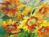 "Постер, картина, фотообои ""Текстура картины маслом, цветы, фрагмент картины окрашены"""