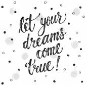Lettering about dreams