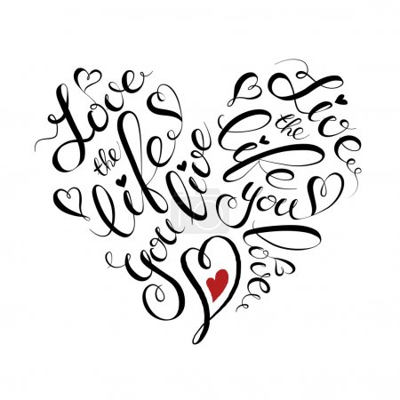 Heart lettering.