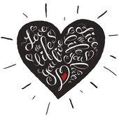 Heart lettering poster