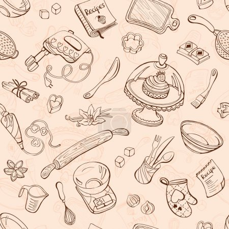 Baking tools background