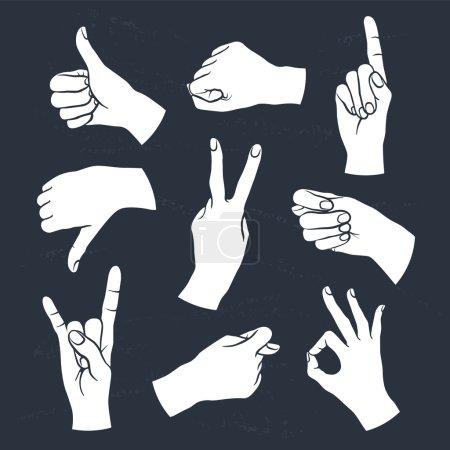 Human gestures set