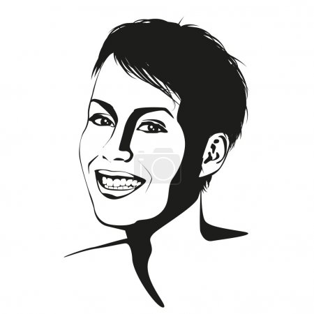 Smiling short haired woman