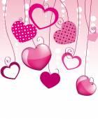 Růžové srdce pozadí