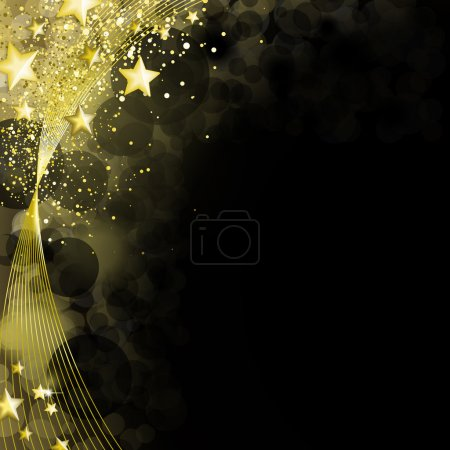 Shining black and gold background