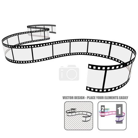 Illustration pour Rouleau de film vectoriel - image libre de droit