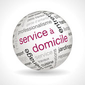 French Home Service theme sphere with keywords
