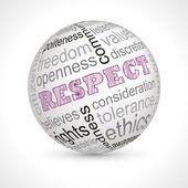 Respect theme sphere with keywords full vector
