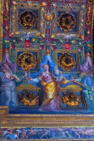 Fresco by Parmigianino in Parma, Italy