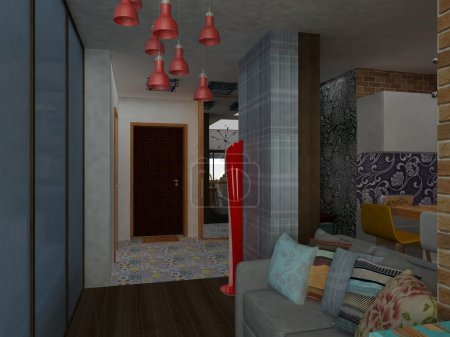 Modern common flat interior