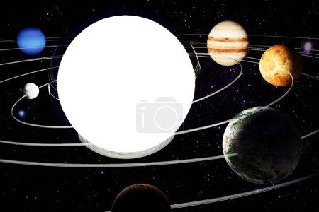 Photo pour Illustration 3D avec l'image d'un modèle du système solaire - image libre de droit