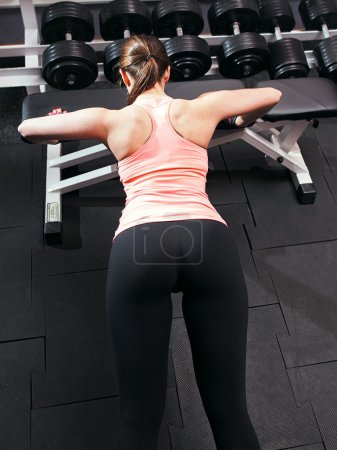 Professional  bodybuilding athlete doing push up  ...
