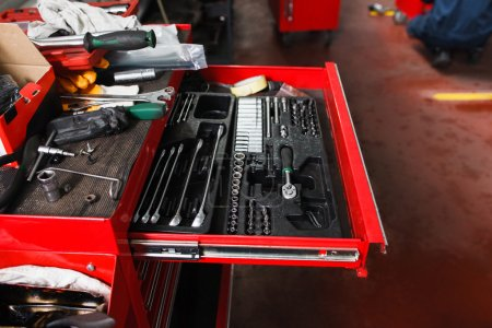 Set of mechanical tools for garage