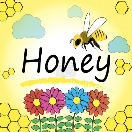 Set for honey and bee labels.