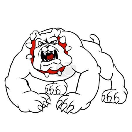 angry bulldog.bulldog cartoon.dog vector.