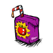 Smiling apple juice box juice cartoon