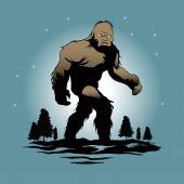 Bigfoot Silhouette Illustrationsasquatch