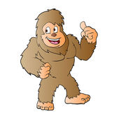 Bigfoot cartoonvector illustration